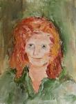 portret, Flip Looyen. Olieverf op papier